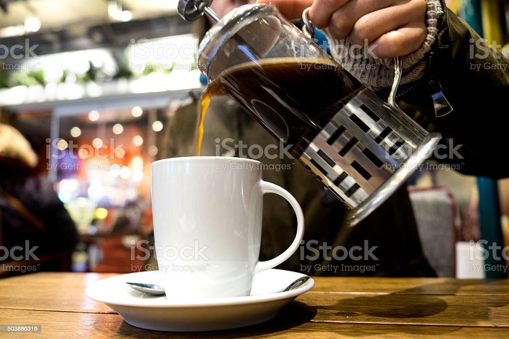 French Press Coffee stock photo