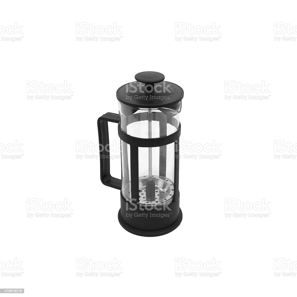 French press isolated stock photo
