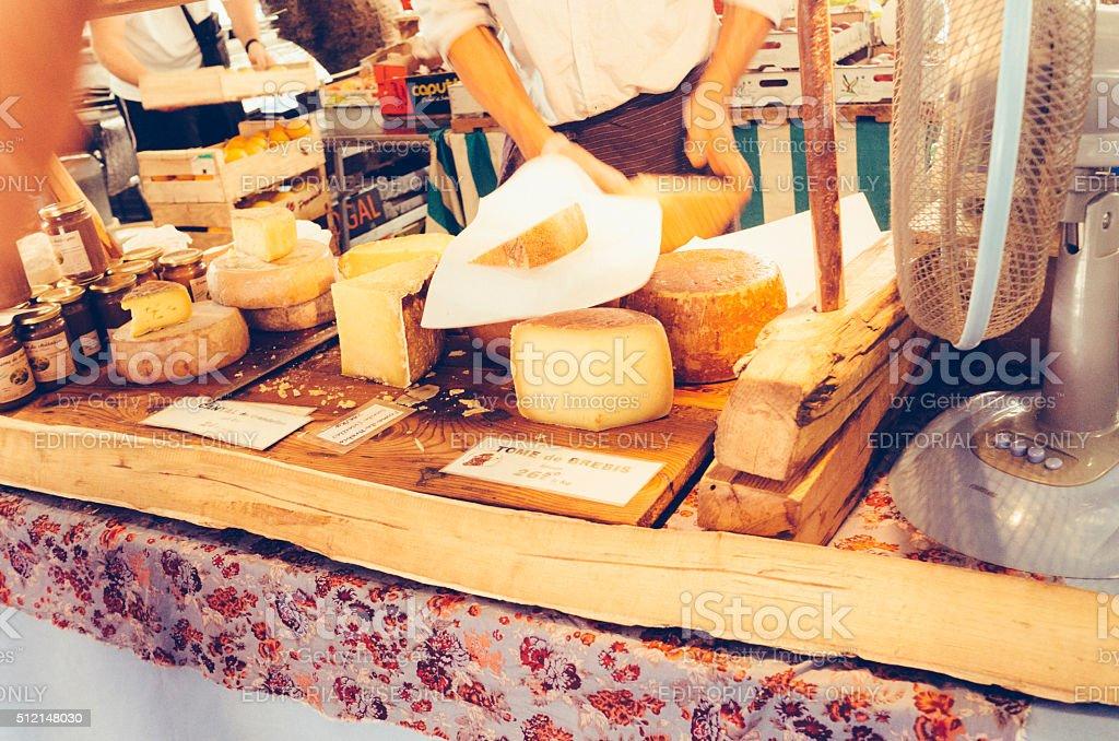 French Provencal market day stock photo