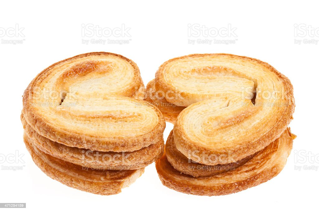 French Puff Pastry Palmier Cookies stock photo