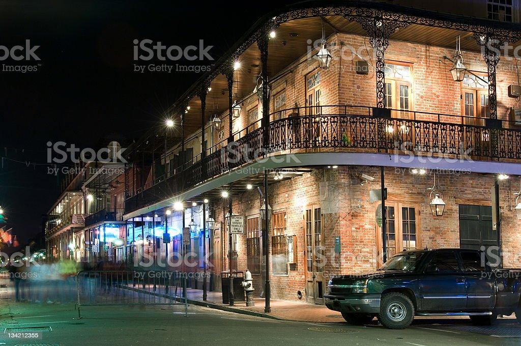 French Quarter at night stock photo