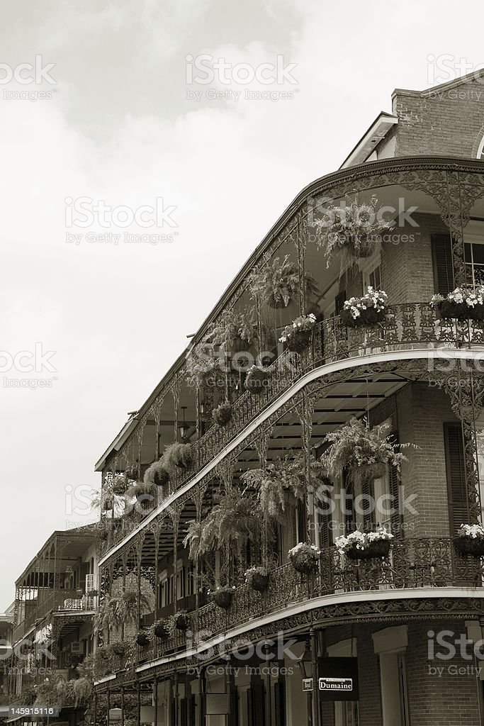 French Quarter Balconies royalty-free stock photo