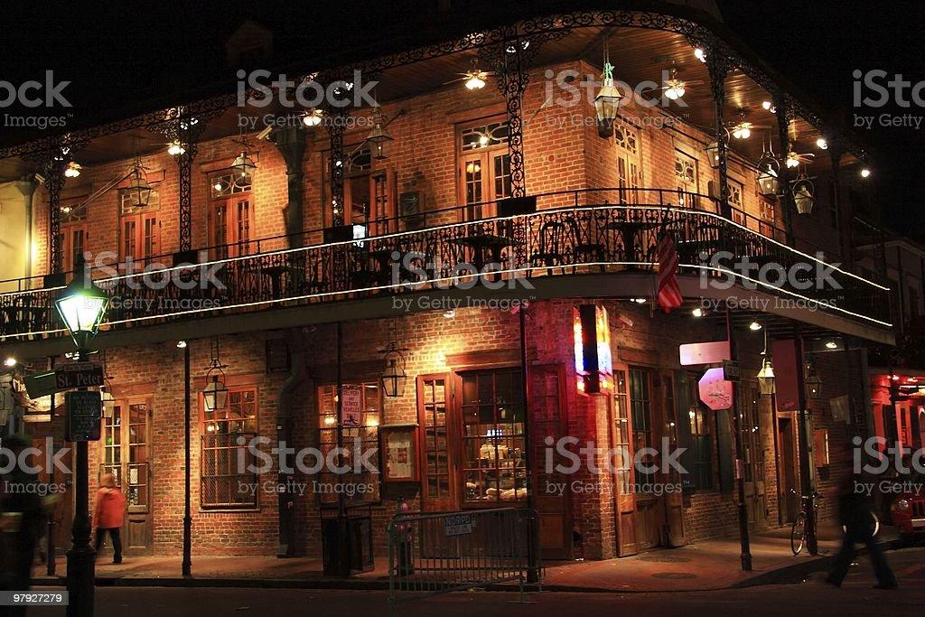 French Quarter Corner Balcony stock photo
