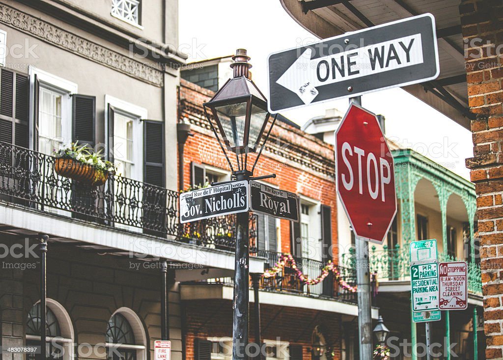 French Quarter corner. stock photo