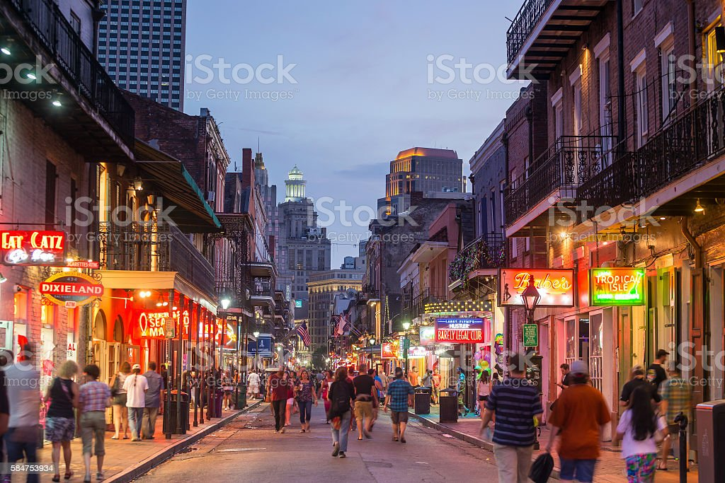French Quarter, downtown New Orleans stock photo