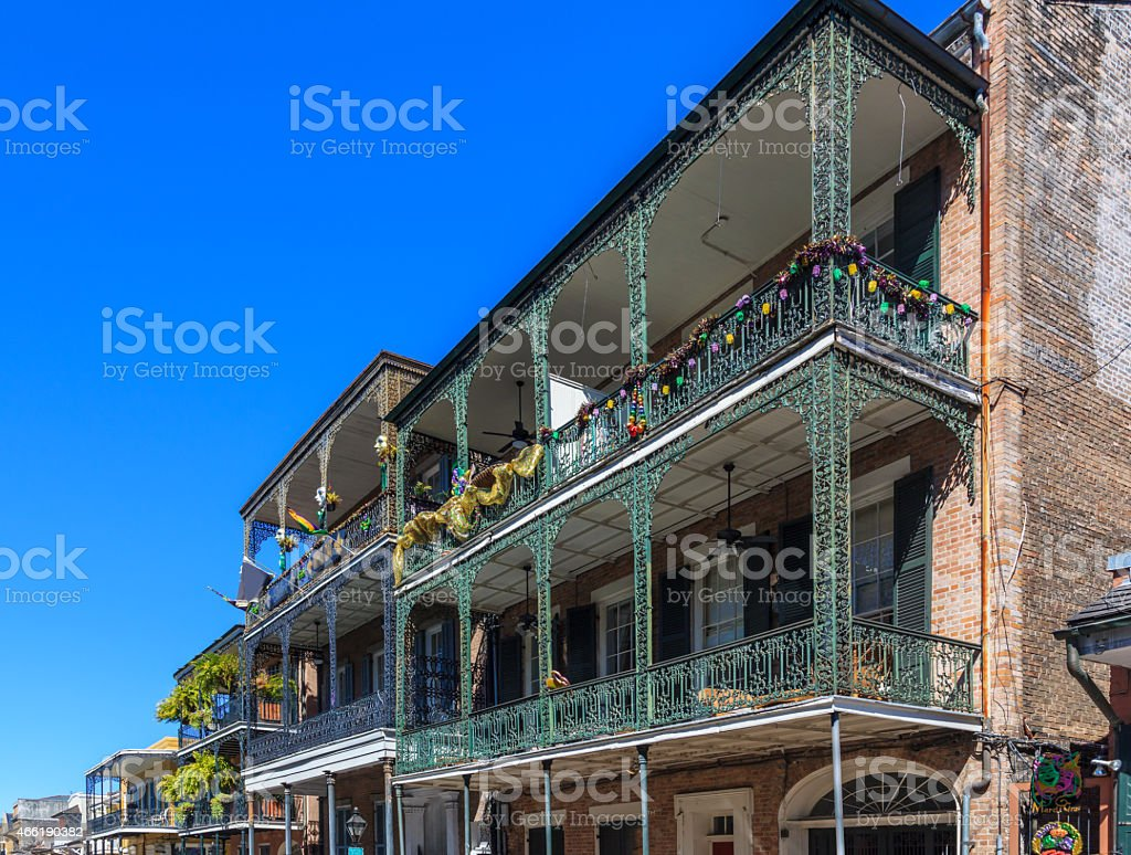 French Quarter in New Orleans stock photo
