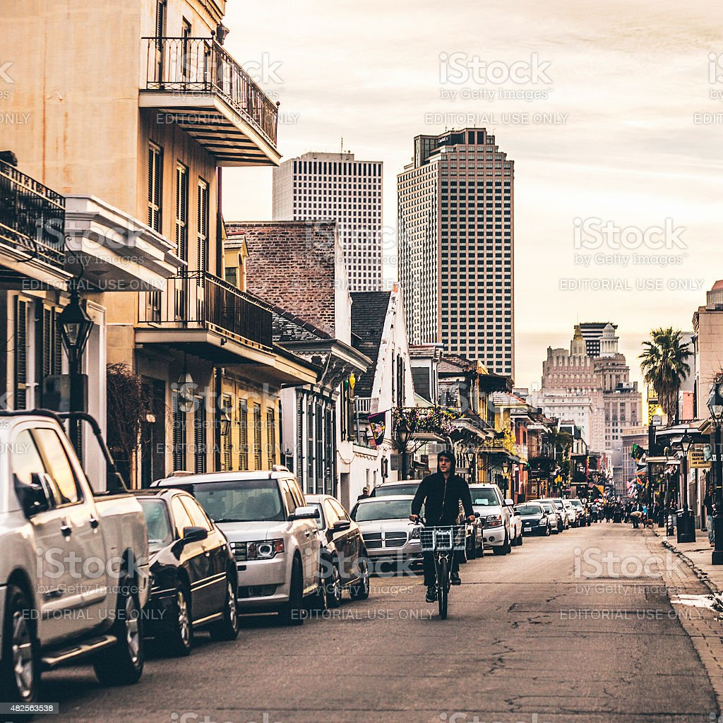 French Quarter, New Orleans. stock photo