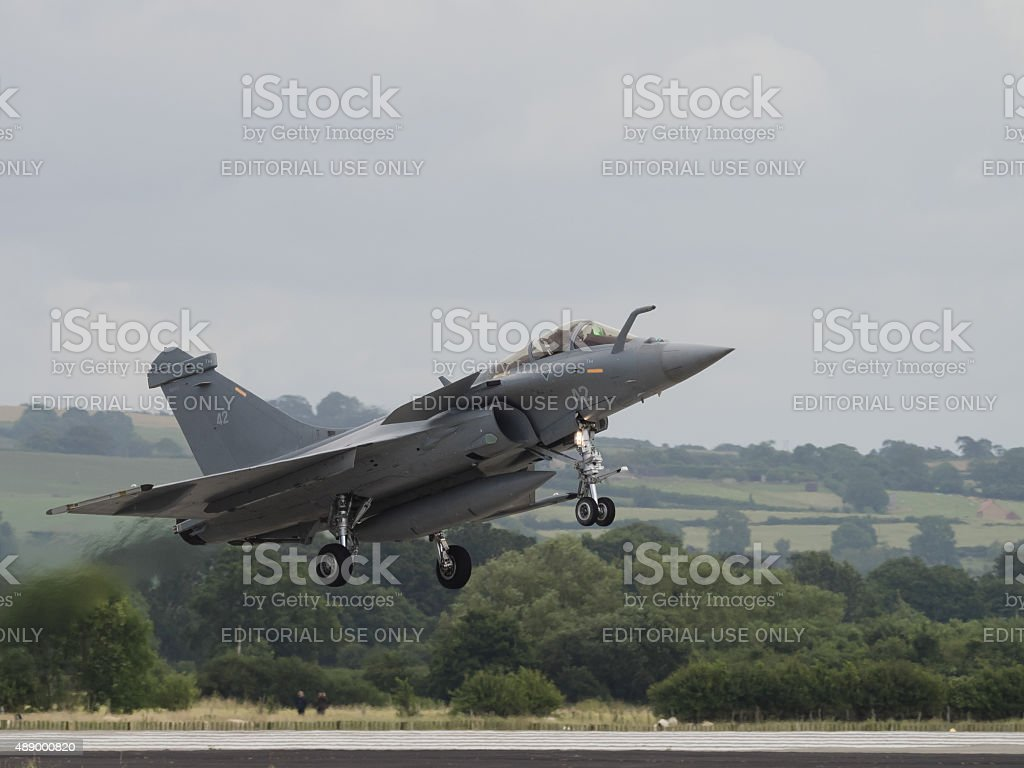 French Rafale fighter jet stock photo