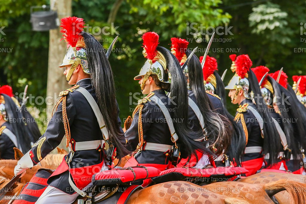 French Republican Guards stock photo