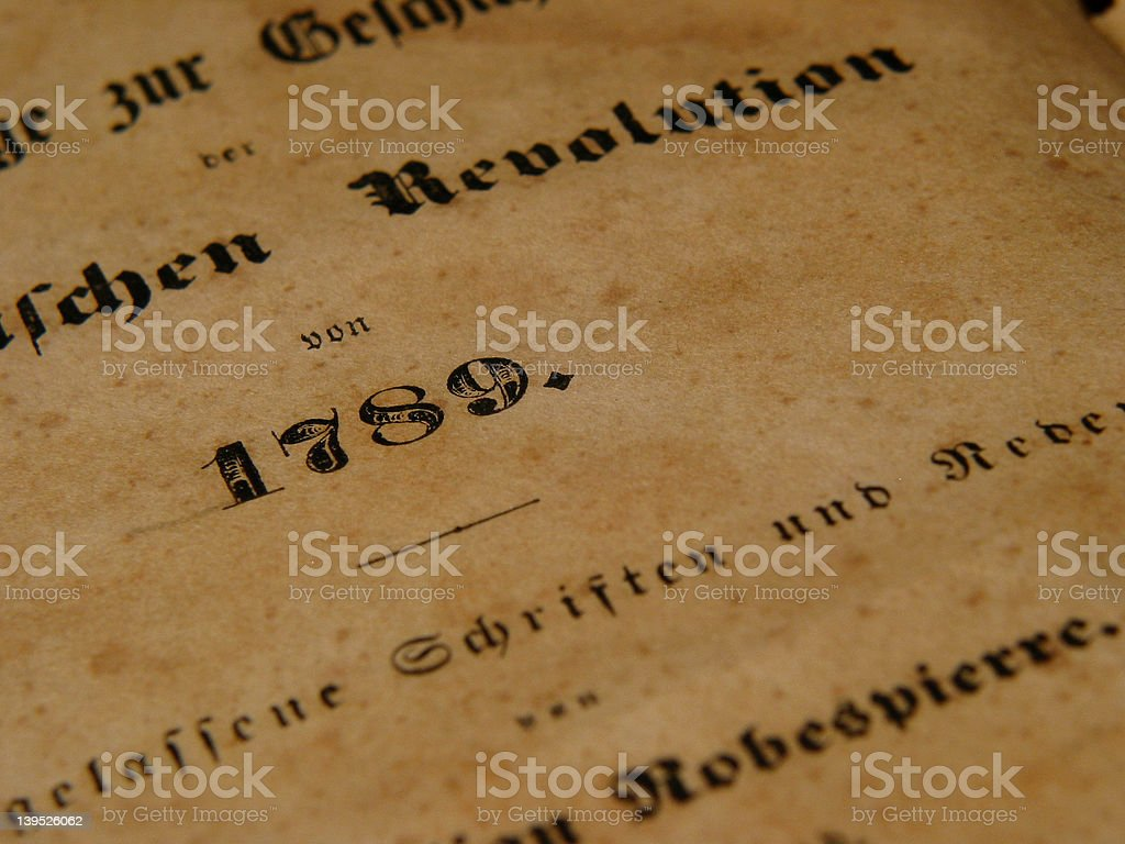 French revolution & Robespierre royalty-free stock photo