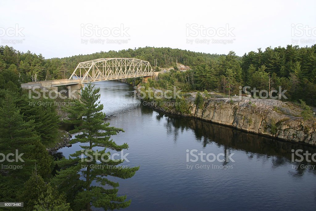 French River Canada stock photo