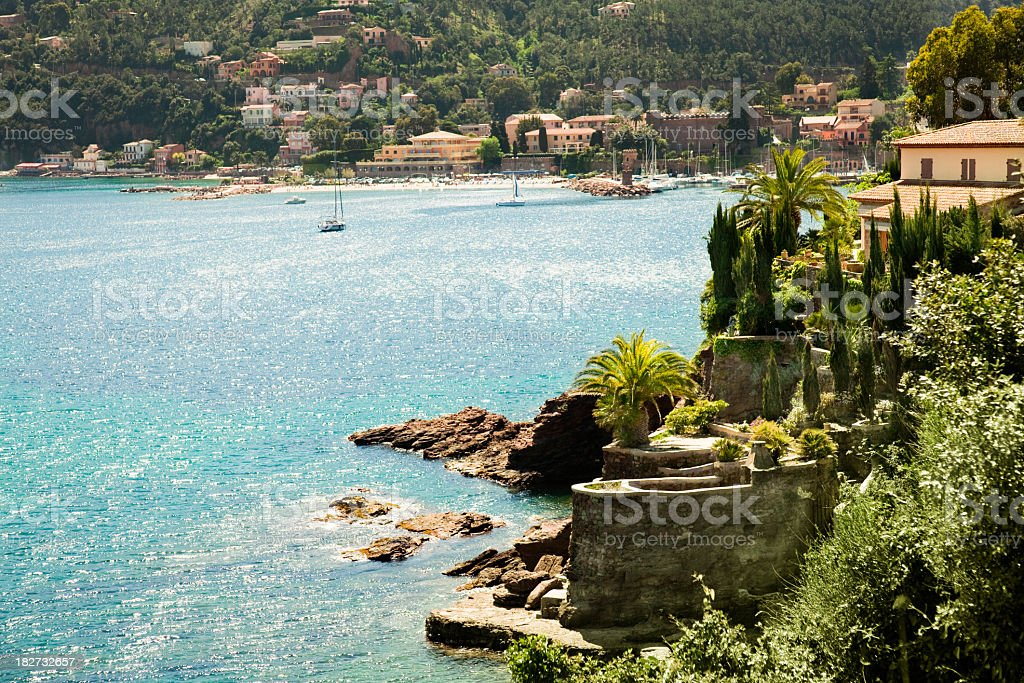 French Riviera landscape stock photo