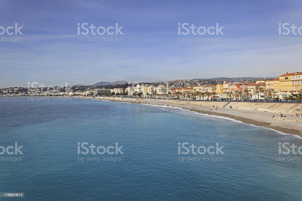 French Riviera Nice royalty-free stock photo