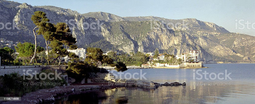 French Riviera town 2 stock photo