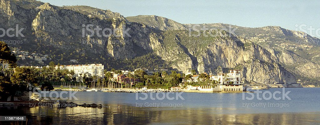 French Riviera town stock photo