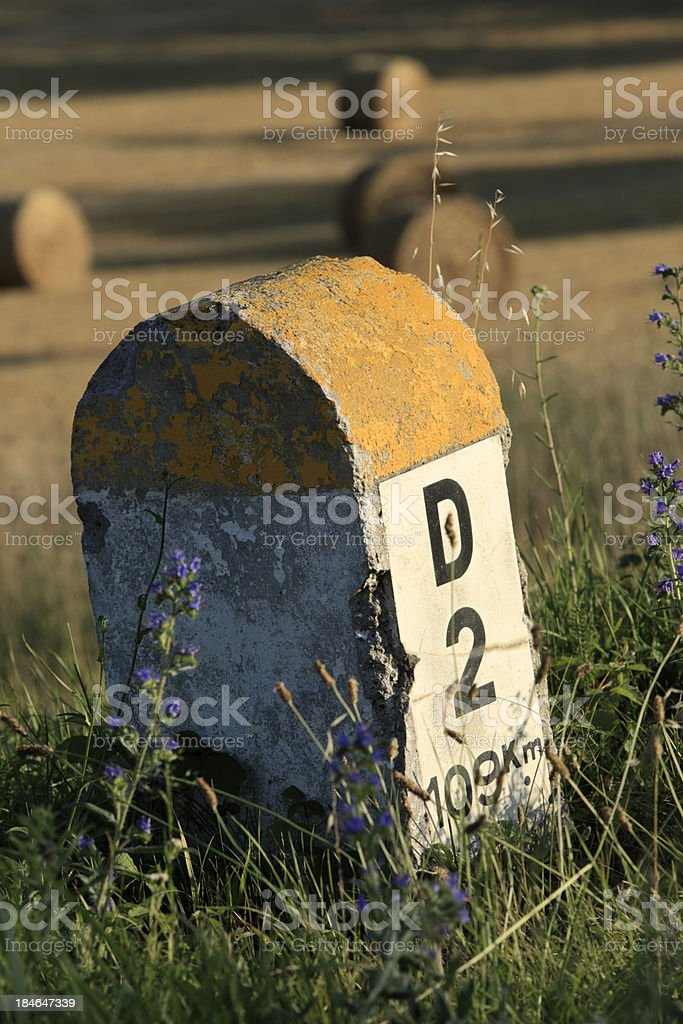 French road sign royalty-free stock photo
