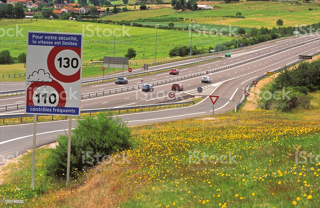 French Roadsign stock photo