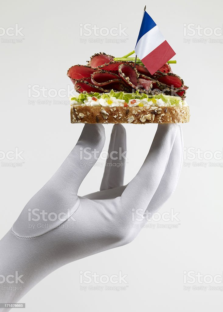 French Roast Beef Sandwich royalty-free stock photo