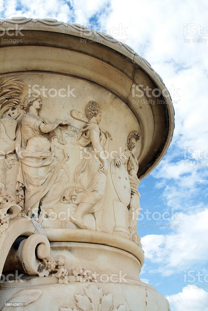 French Rococo Style OutDoor Planter royalty-free stock photo