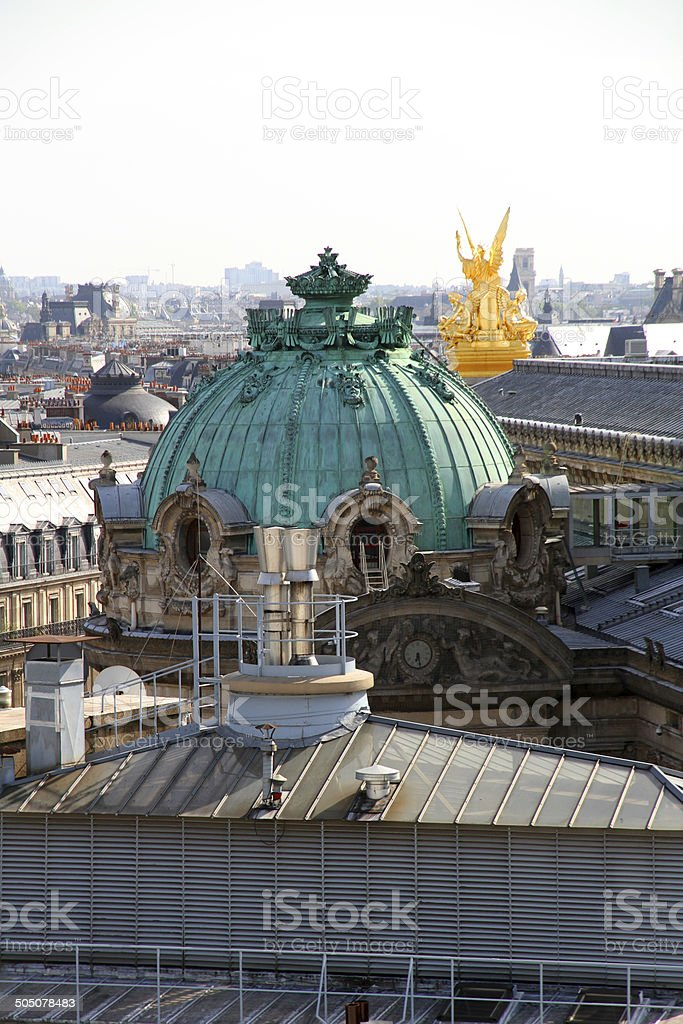 French Rooftops stock photo