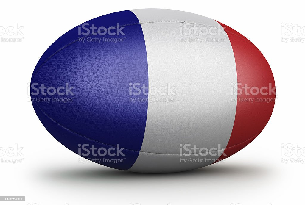 French Rugby royalty-free stock photo
