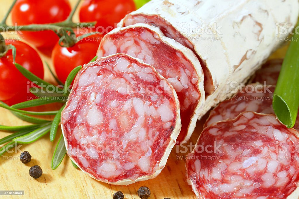 french salami royalty-free stock photo