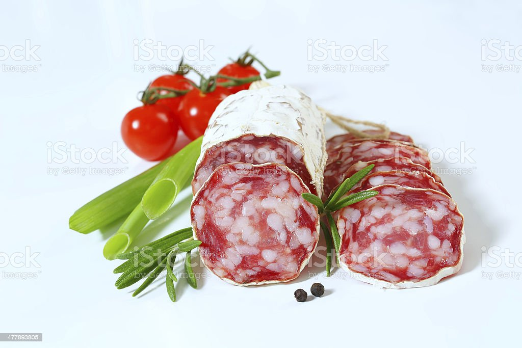 french salami royalty-free stock photo