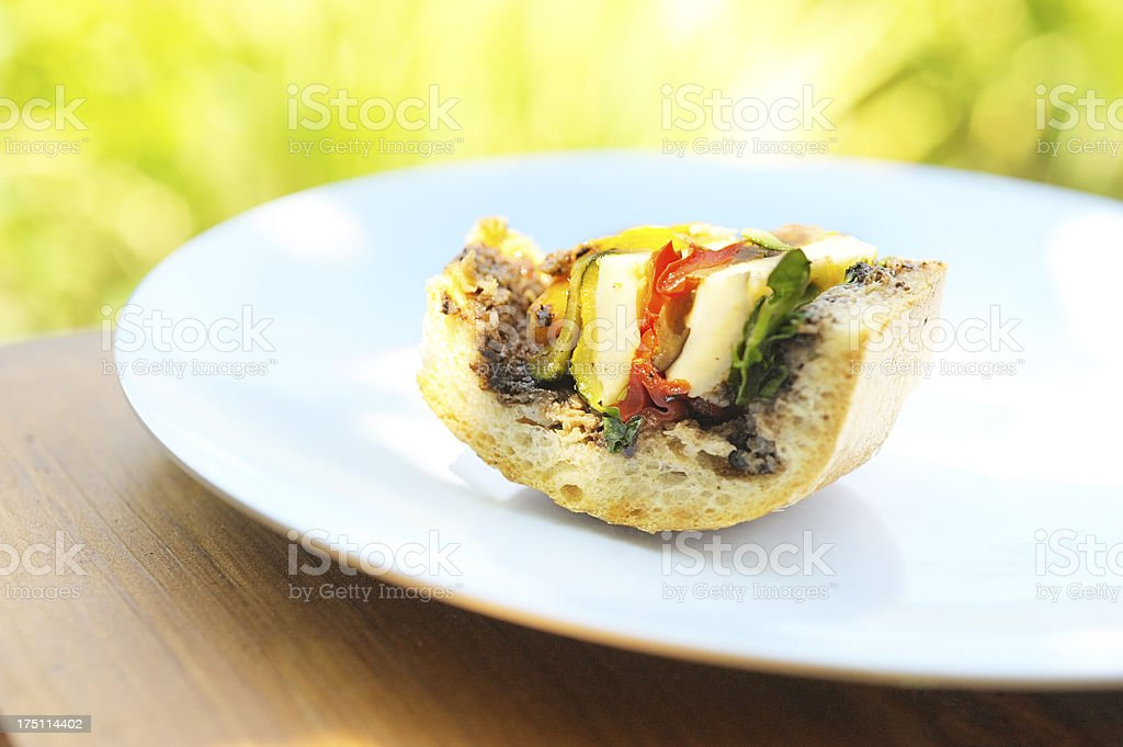 French sandwich vertical section royalty-free stock photo