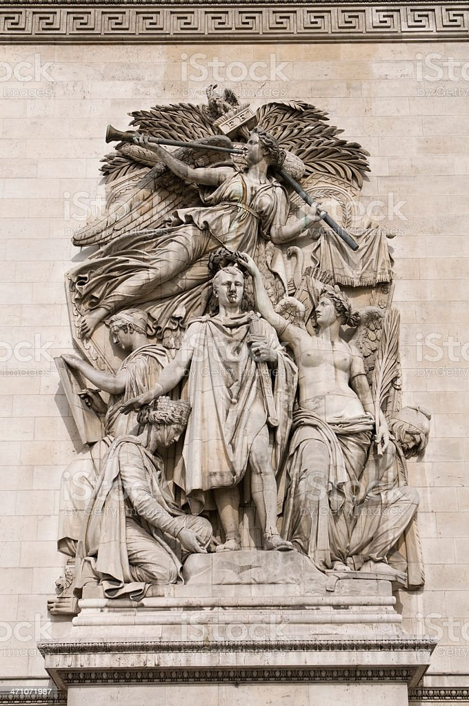 French sculpture royalty-free stock photo