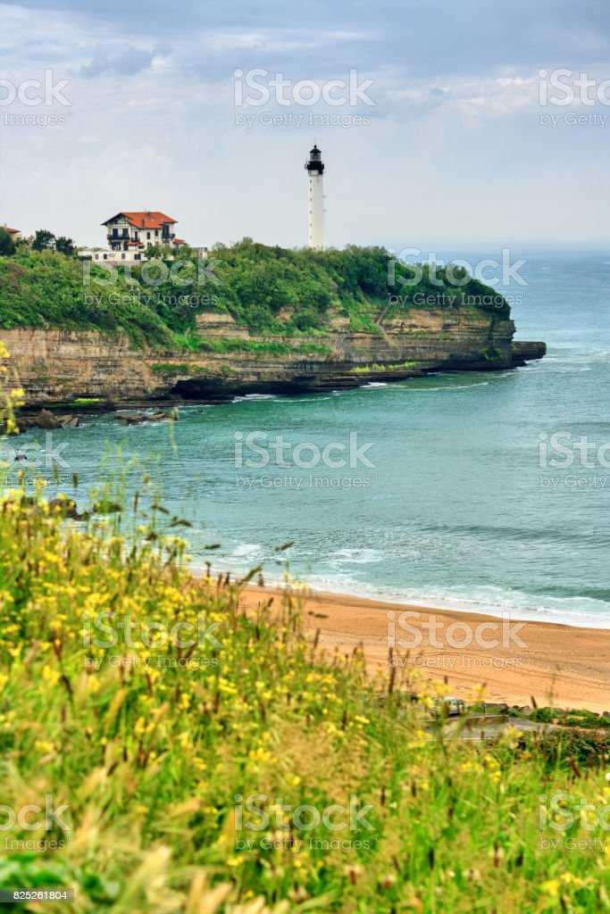 French sea resort - Biarritz at the Cote Basque stock photo