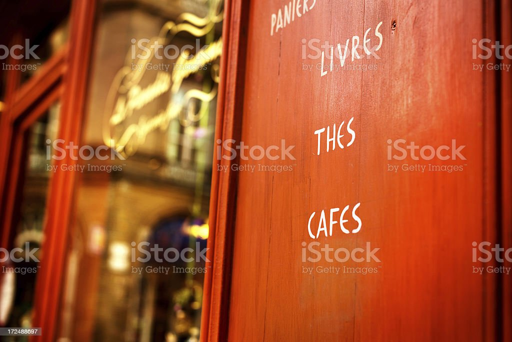French Sidewalk Cafe Restaurant royalty-free stock photo