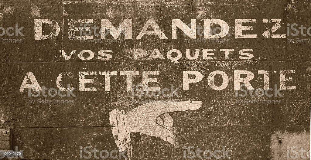 french sign royalty-free stock photo