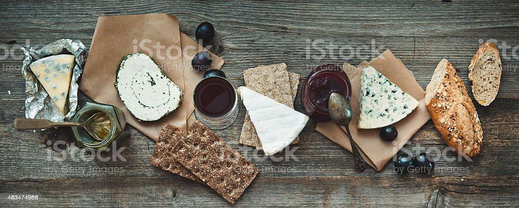 French snacks stock photo