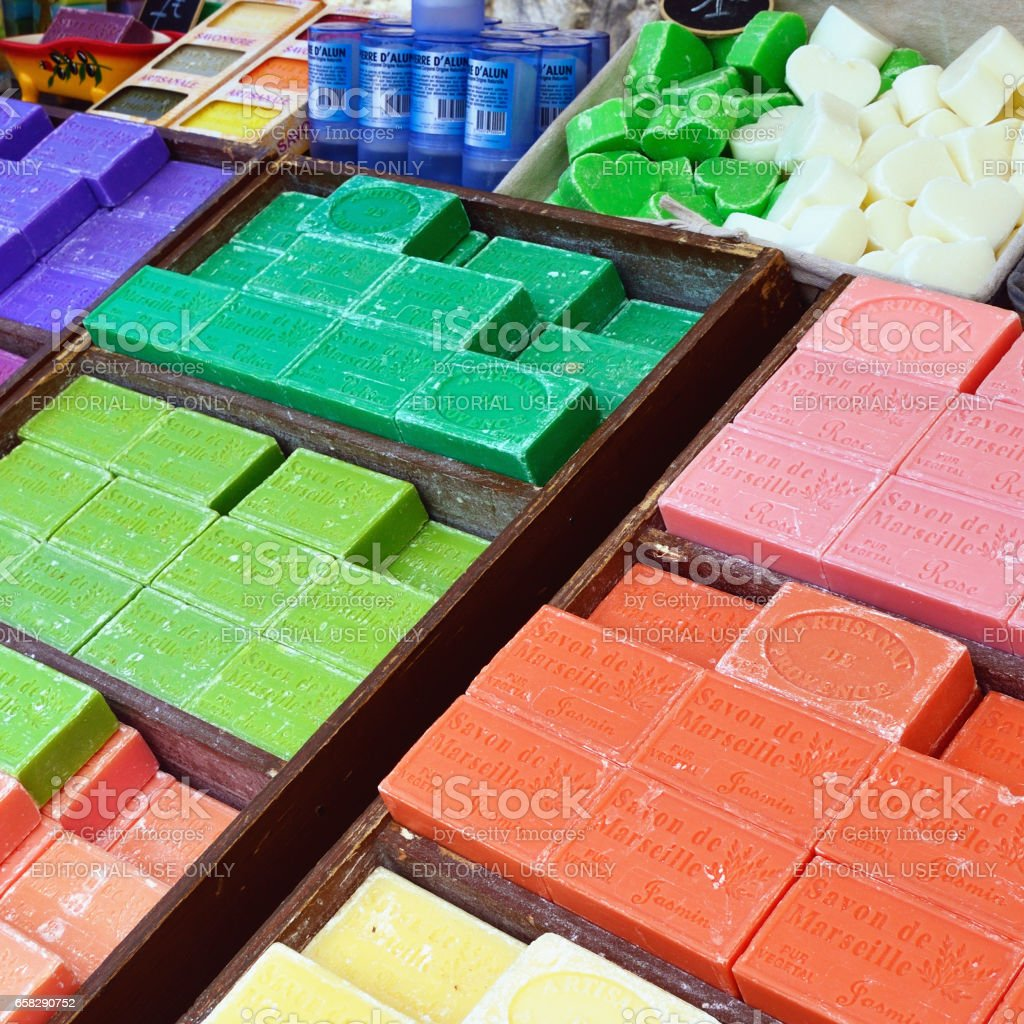 French soap stock photo