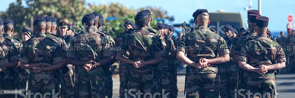 French soldiers stock photo