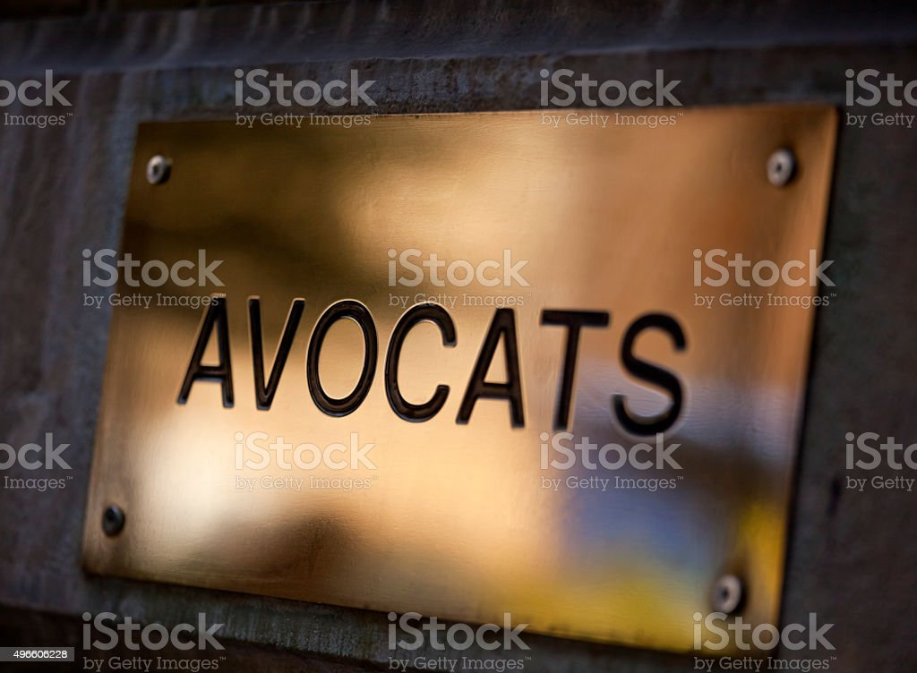 French Solicitors Office stock photo