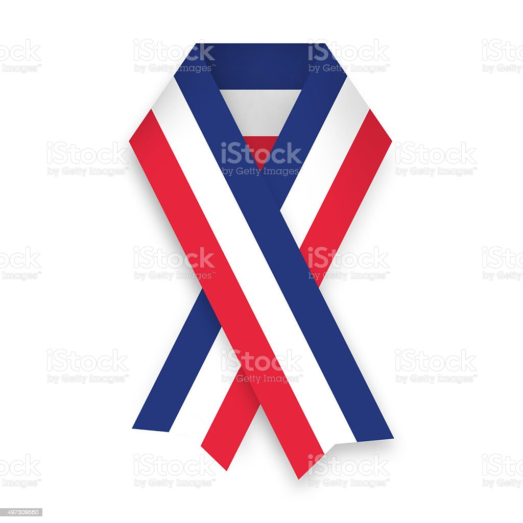 french solidarity bow stock photo