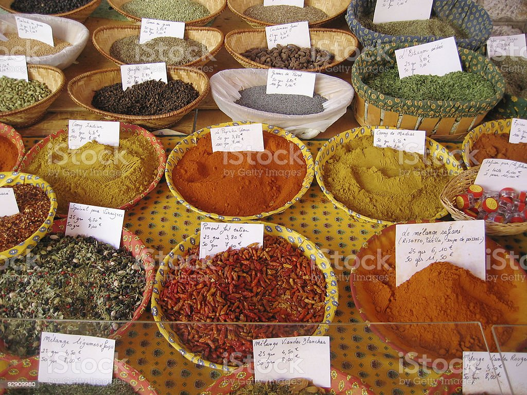 French Spice Market royalty-free stock photo