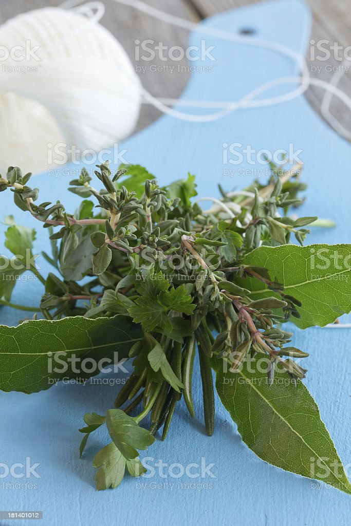 French spice-bouquet Garni. royalty-free stock photo