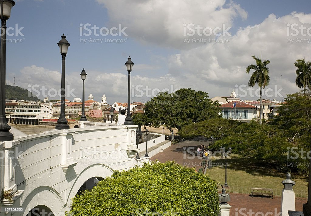 French Square in Caso Viejo royalty-free stock photo