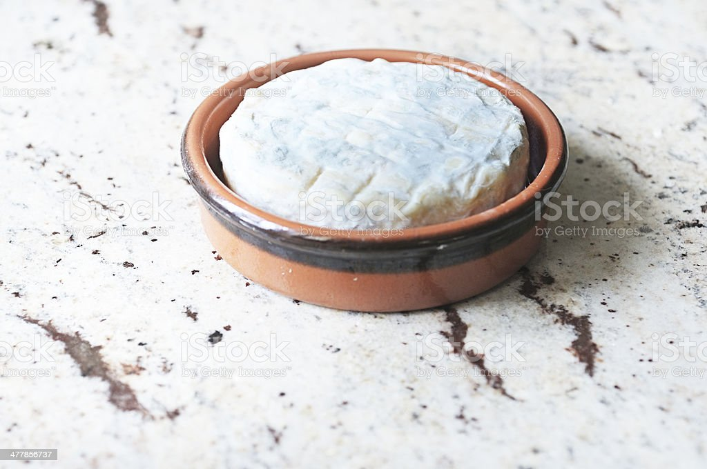 French St Felicien cheese from the Vercors mountains stock photo