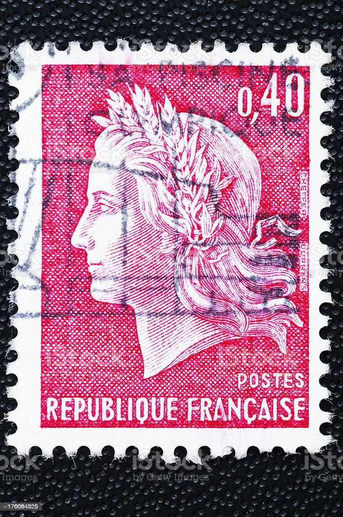 French stamp Marianne stock photo