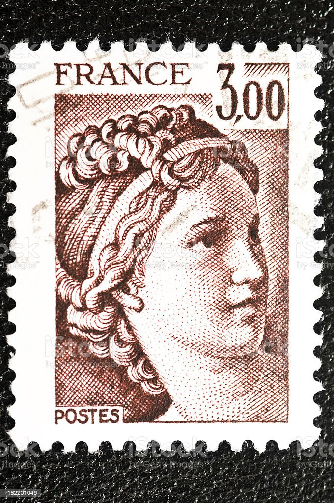 French stamp royalty-free stock photo