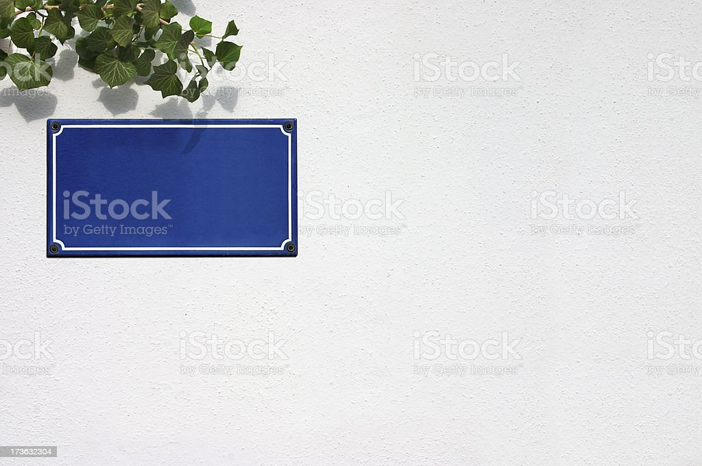 French Street Sign stock photo