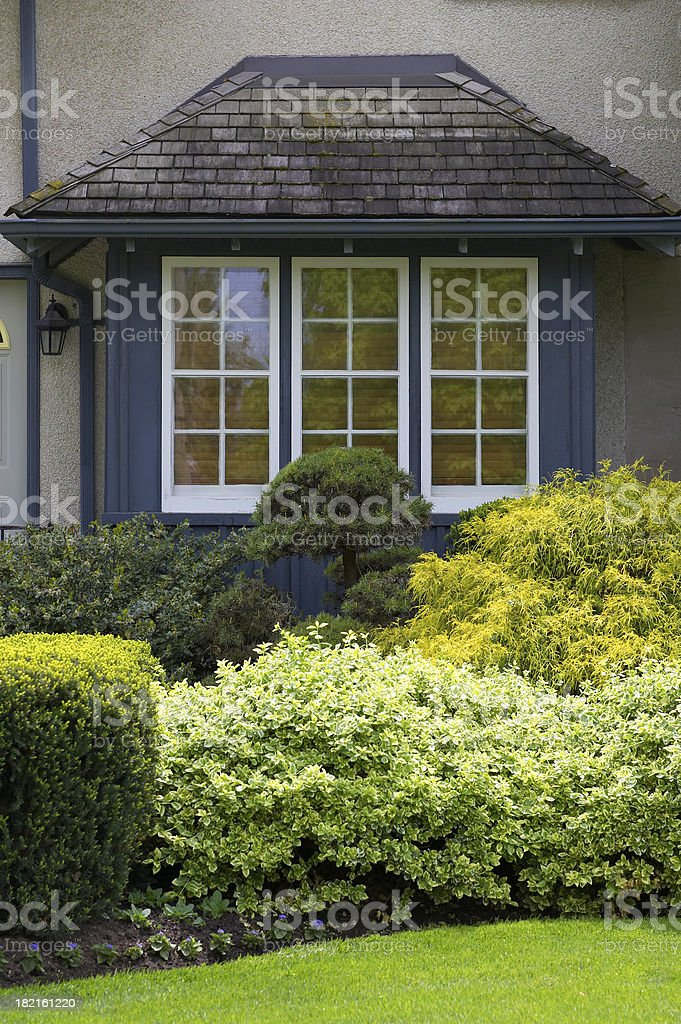 French Style main window stock photo