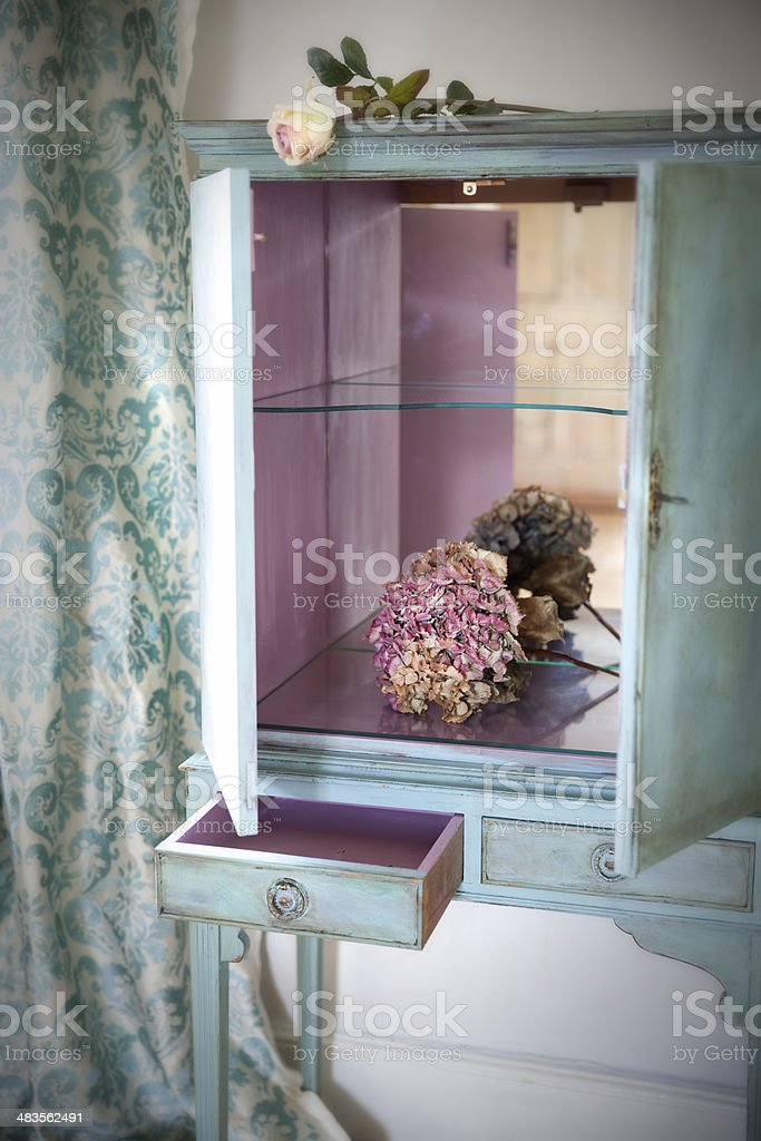 French Style Shabby Chic Cupboard stock photo