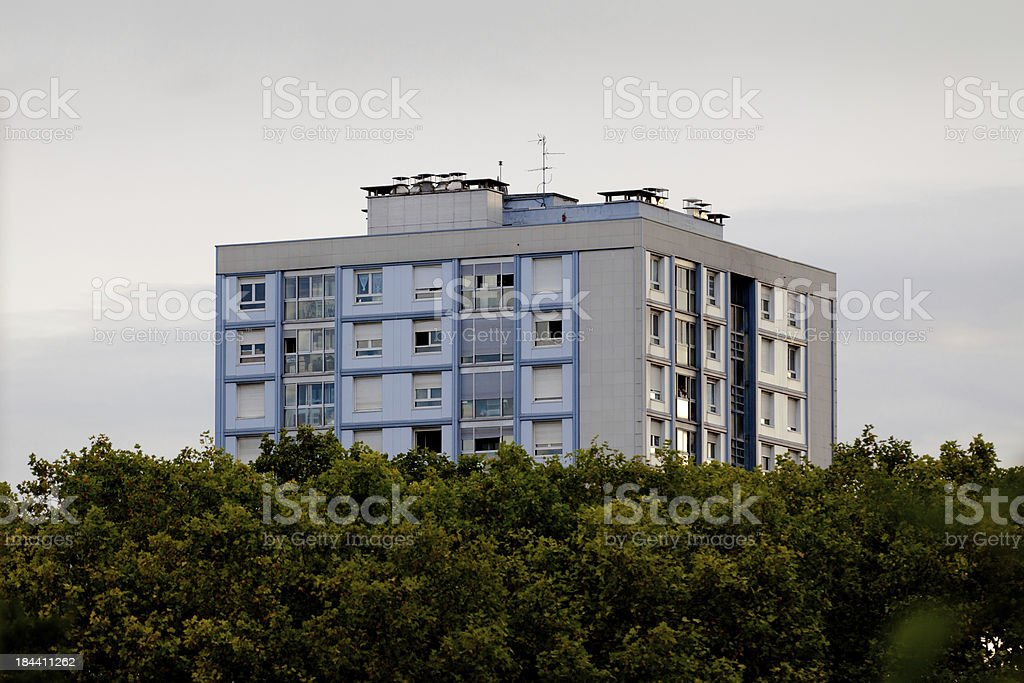 French suburb royalty-free stock photo