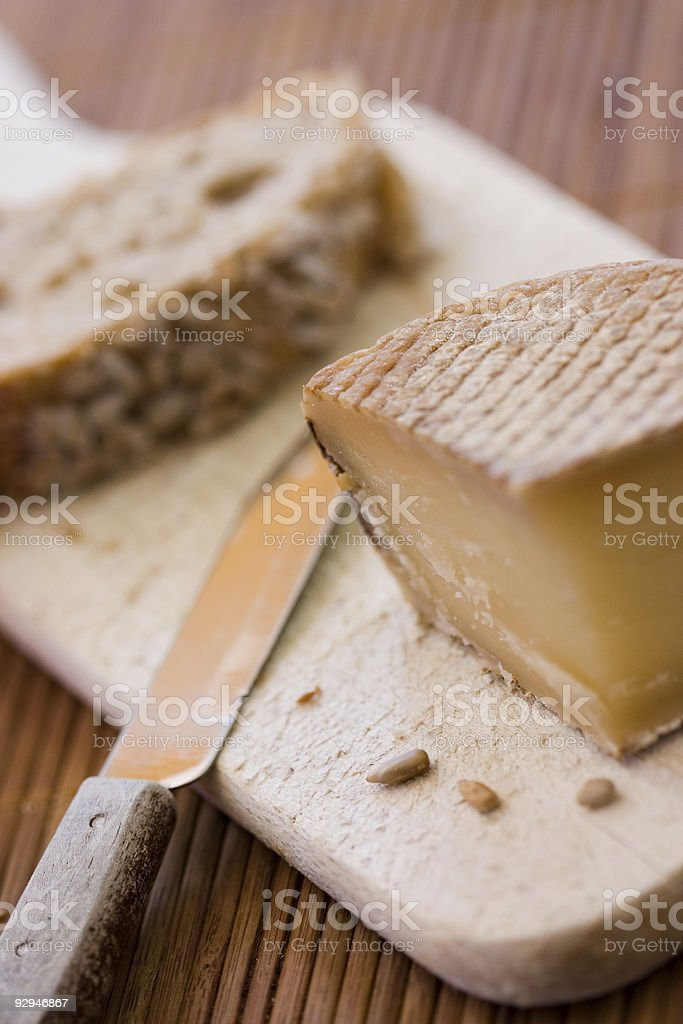 French tasty cheese stock photo