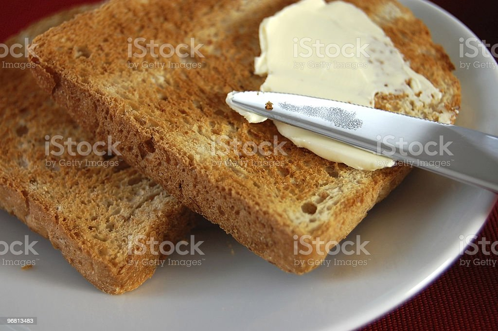 French Toast and Butter royalty-free stock photo