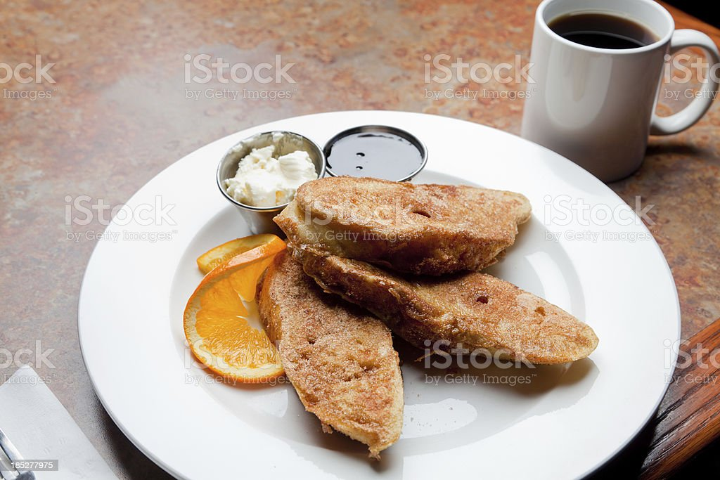 French Toast and Coffee royalty-free stock photo